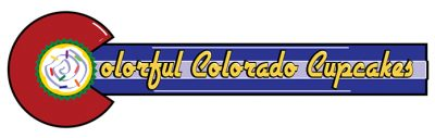 Colorful Colorado Cupcakes Logo